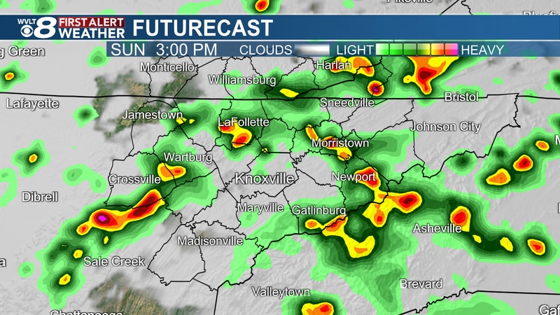 More downpours Sunday