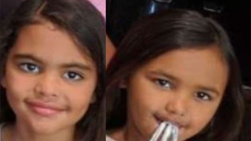 Officials issued an Amber Alert Wednesday for two girls who authorities said were last seen in...