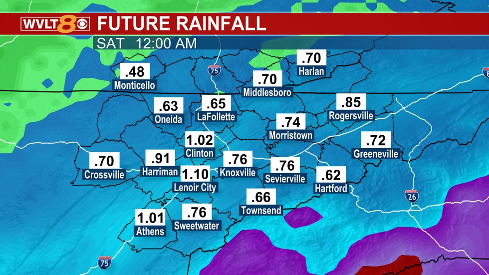This much rain can lead to ponding and some runoff issues.