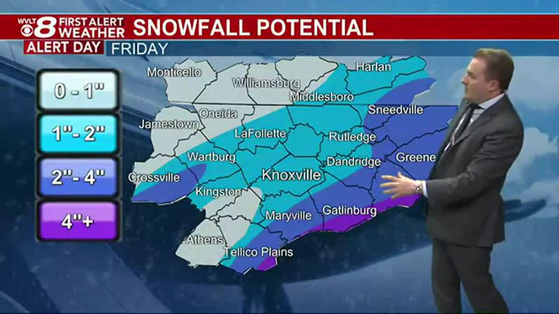 First Alert Friday: Snow already sticking Thursday night