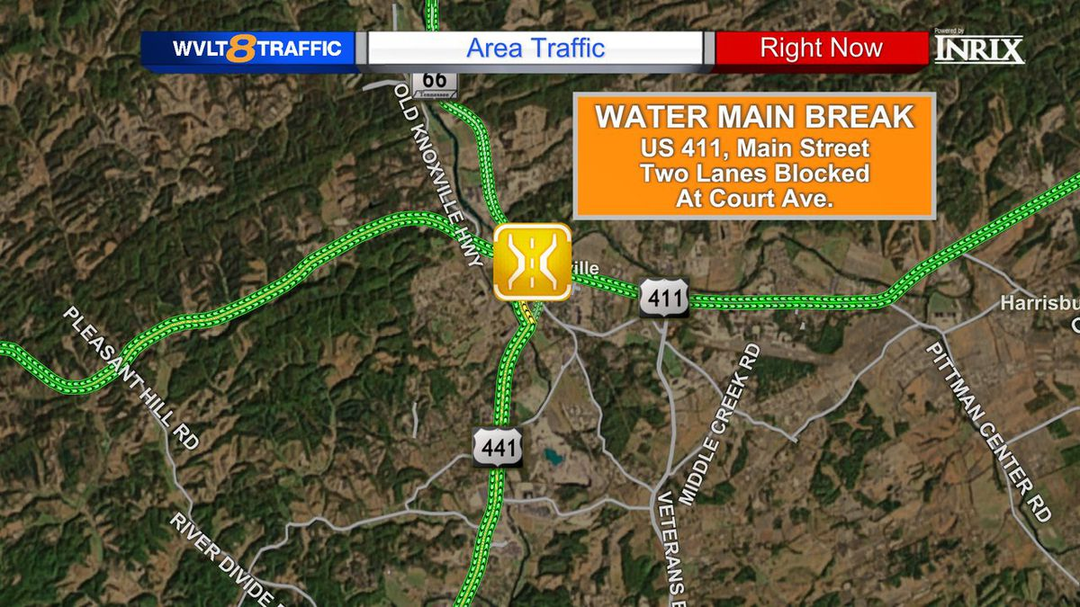 A Sevierville water main break is causing delays for drivers.