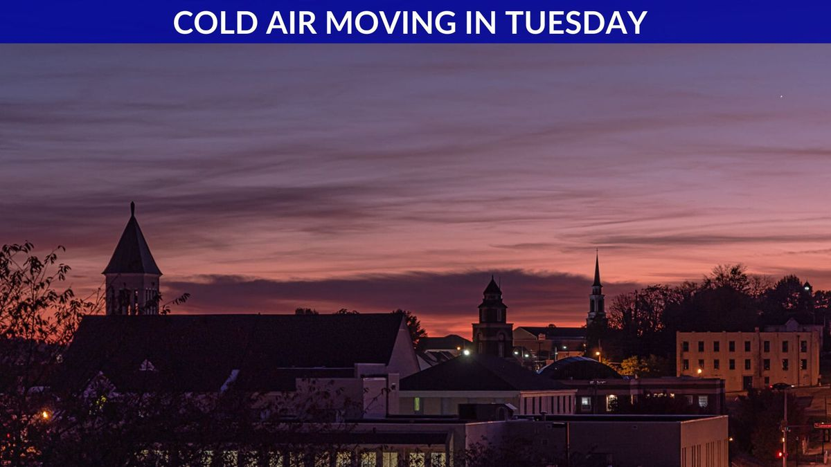 Sundown over Morristown tonight from our Weather Vol, Joe Moore