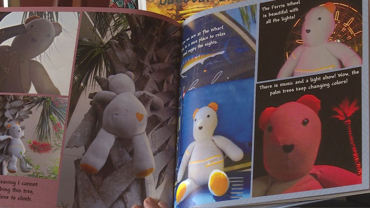 Sawbear's adventures are chronicled in four books (Source: WVLT)