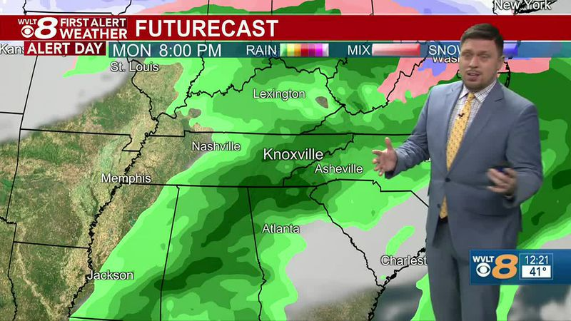 A First Alert Weather Day is in effect for the threat of locally heavy rainfall.