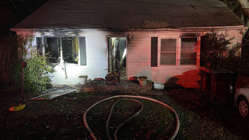 KFD responding to a fire in the 4000 block of Lonas Dr. where one resident was sent to the...