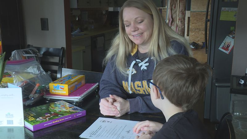 Zielke worked with her son on science