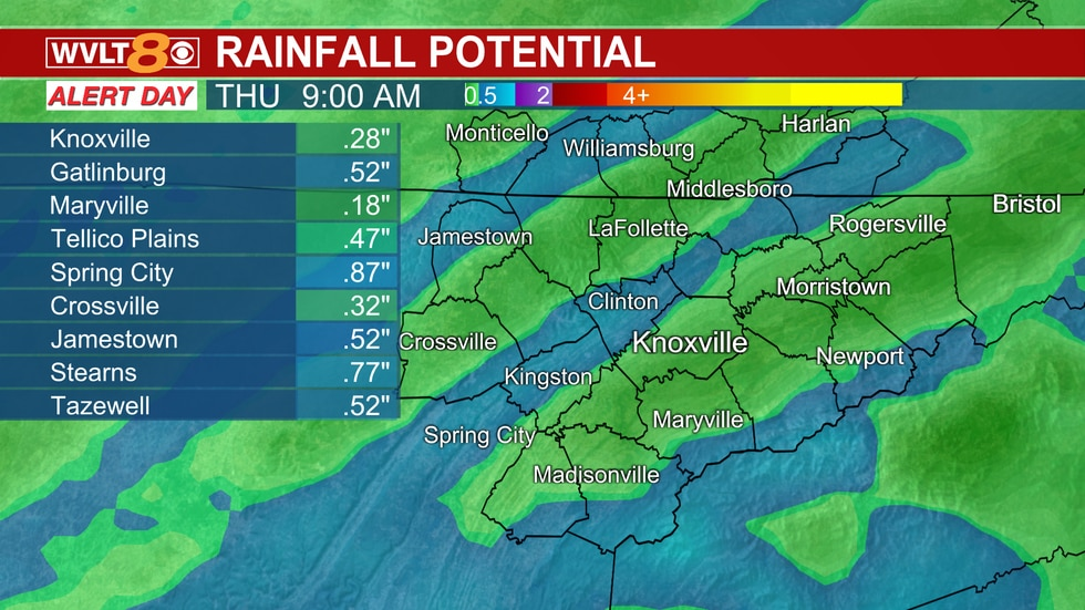 Heavy rain and storms late Wednesday