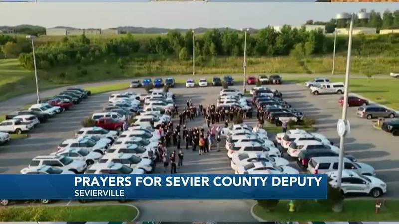 The Sevier County Sheriff's Office said SGT Stoffle is in the hospital battling COVID-19.