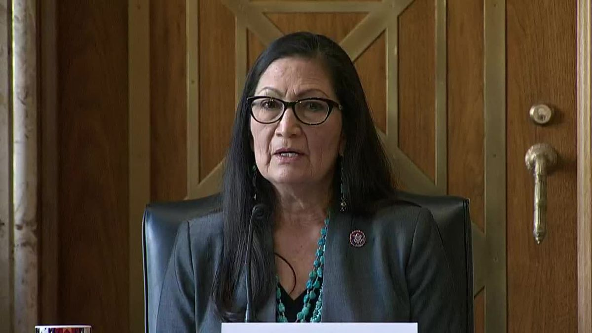 Rep. Deb Haaland was pressed by Sen. John Barrasso on the subject of fossil fuels and climate...