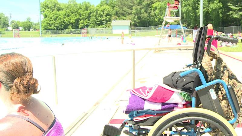 Mom of child with special needs, senior swimmers appeal for pool to stay open.