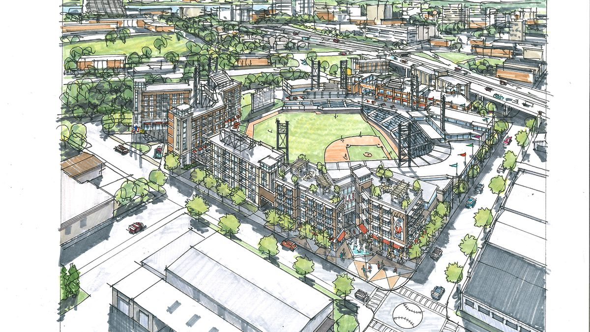 Randy Boyd revealed plans for a new Tennessee Smokies ballpark in Knoxville. /