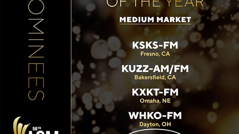 WIVK in Knoxville, TN was nominated for radio station of the year.