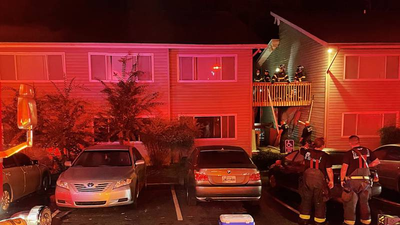 Fire at Meadowood Apartments