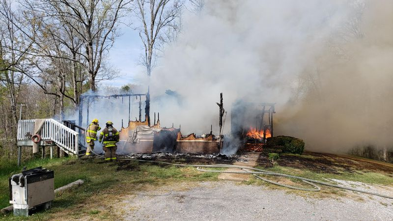 There was no power supplied to the home and firefighters had a hard time finding water supply,...