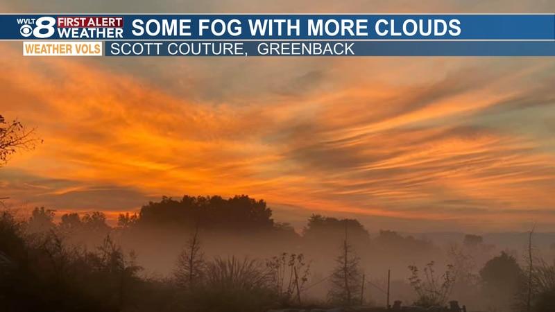 What a shot of the orange sunrise from Scott on Thursday morning.