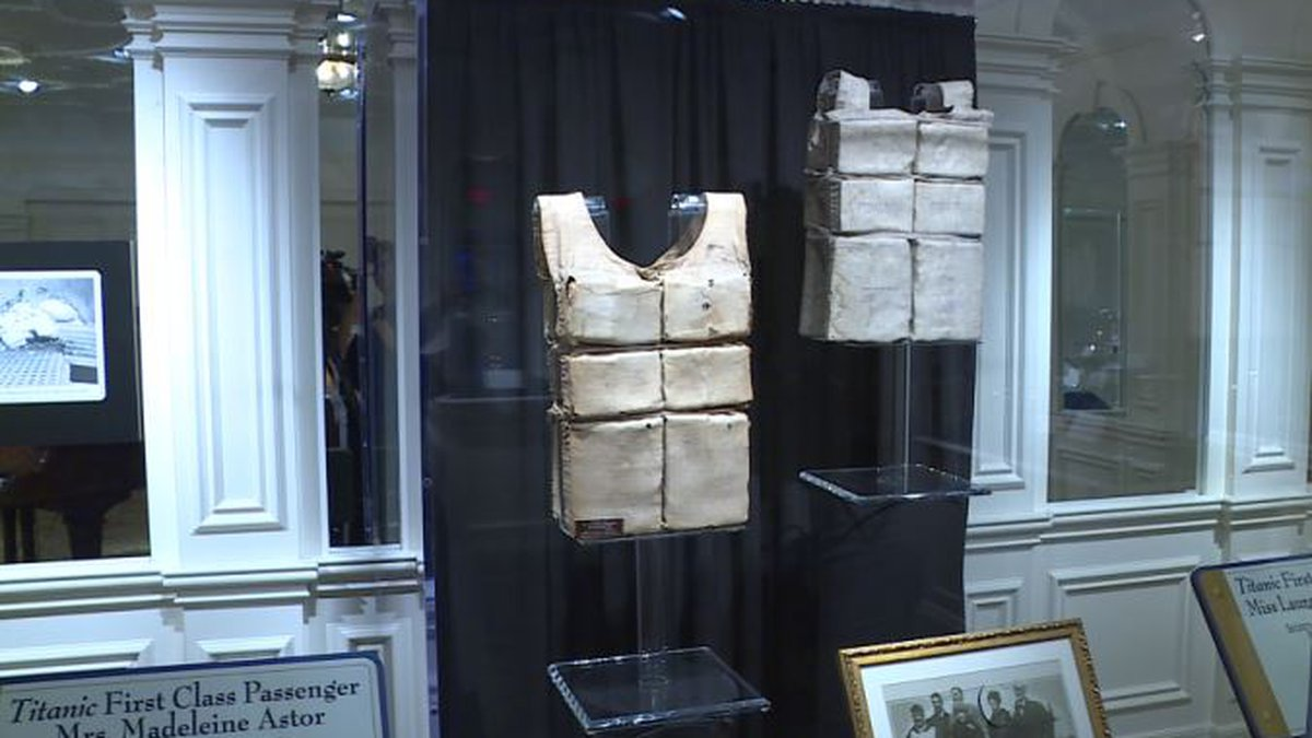 The world's largest collection of Titanic life jackets are on display in Pigeon Forge / Source:...