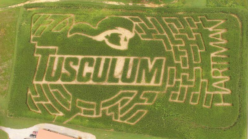 Hartman's Corn Maze honors Tusculum