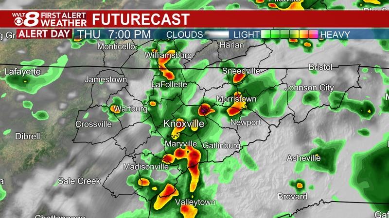 Strong storms moving through Thursday evening
