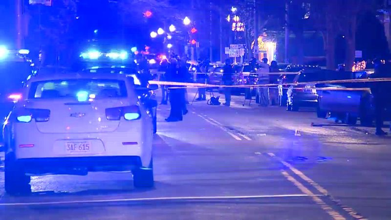 Six people were wounded while shooting a music video in Lynn, Mass., on Saturday night.