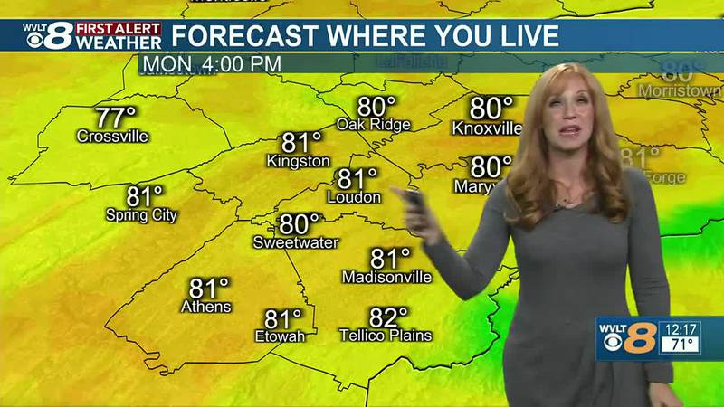Chief Meteorologist Heather Haley says temperatures are back to above average after today.