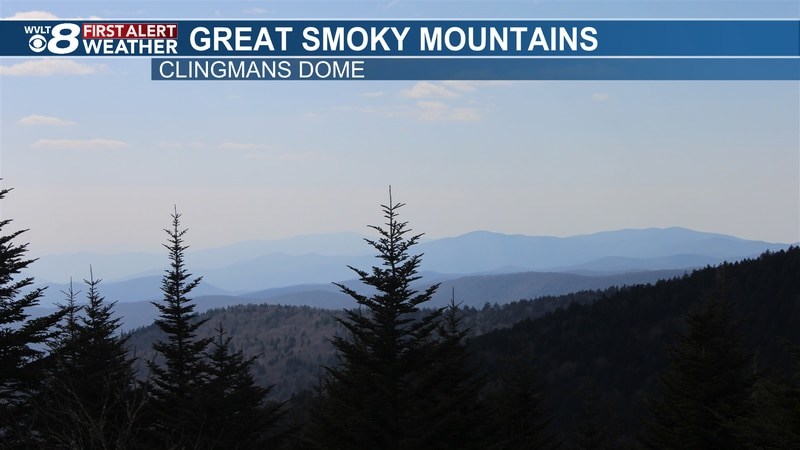 This was the view at Clingman's Dome Tuesday afternoon