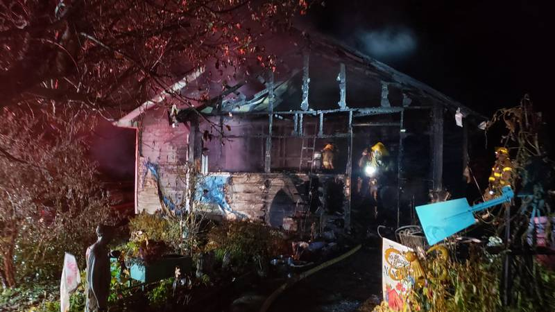 North Knox County home significantly damaged in house fire.