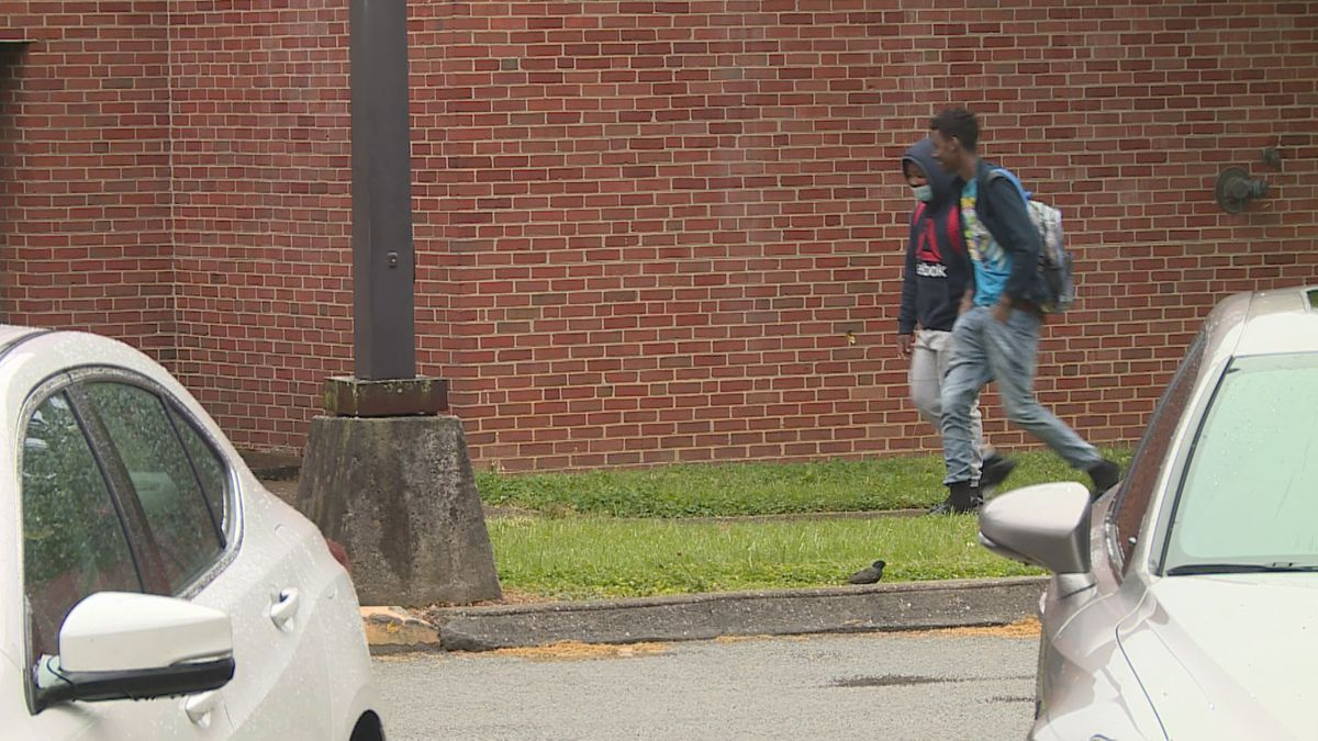 Two students head to school for special counseling services.