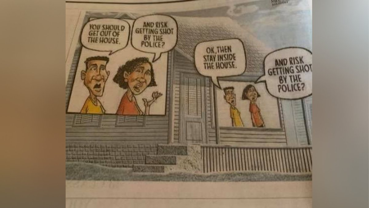 """Knox County Sheriff calls cartoon """"wildly inappropriate."""" / Source: (Knox..."""