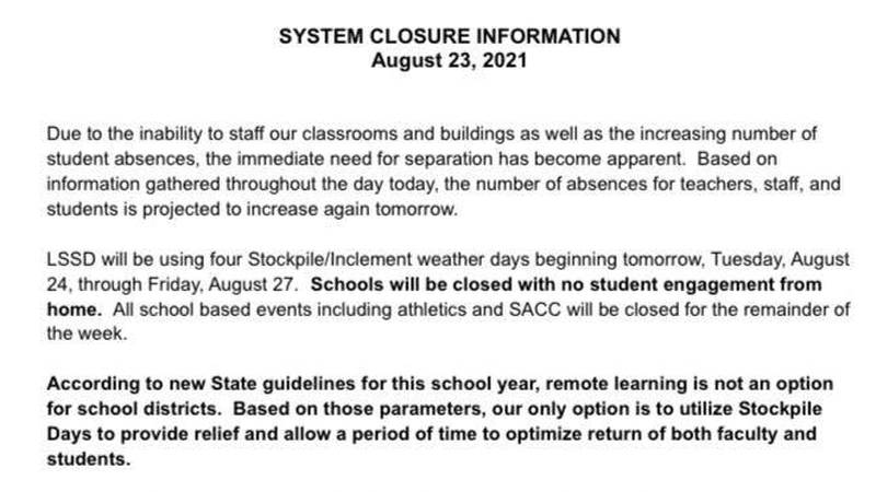 Lebanon Special School District cancels class for the rest of the week