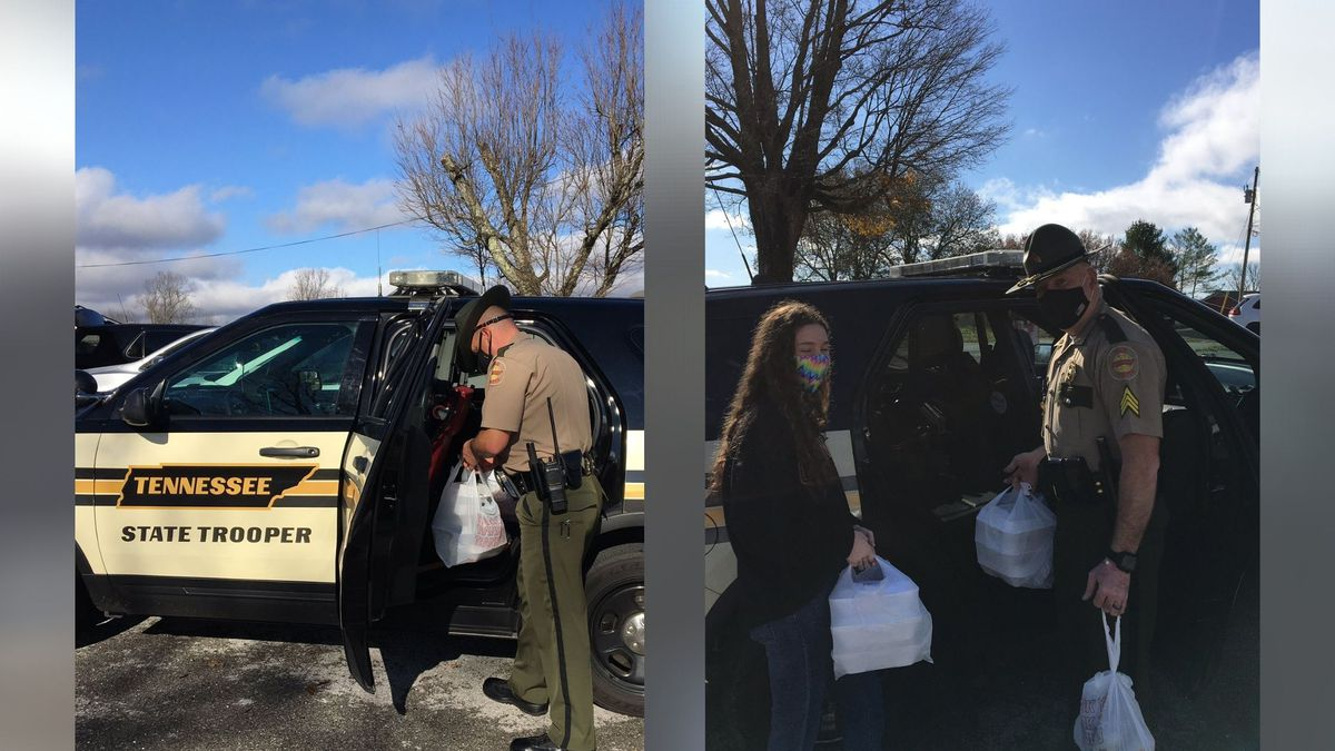 Tennessee state troopers in Van Buren County spent their Thanksgiving morning delivering meals.