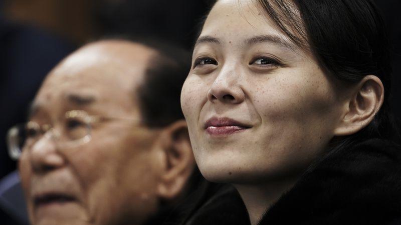 In this Feb. 10, 2018, file photo, Kim Yo Jong, the sister of North Korean leader Kim Jong Un,...