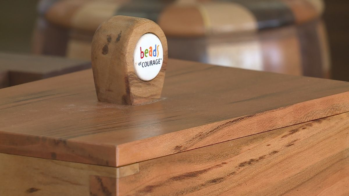 Woodworkers create special boxes for ETCH patients' Beads of Courage necklaces