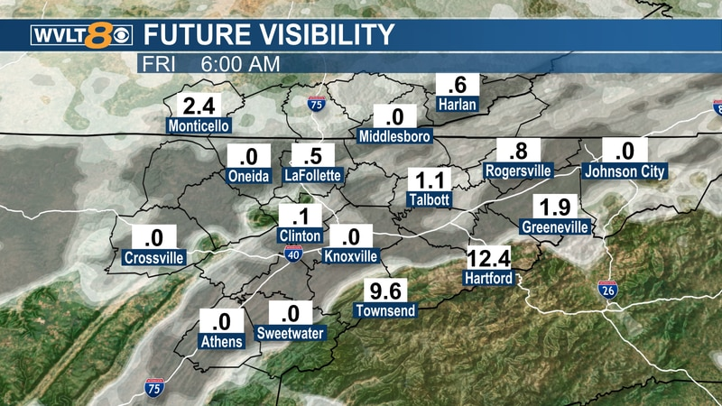Widespread fog Friday morning