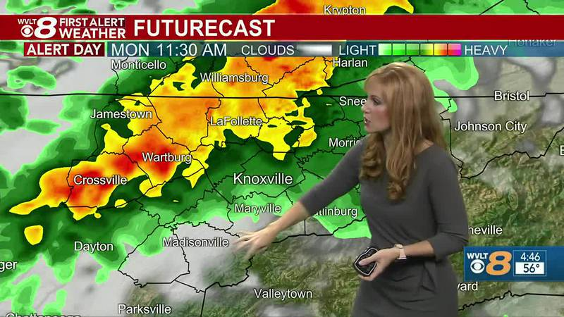 Tracking downpours and storms