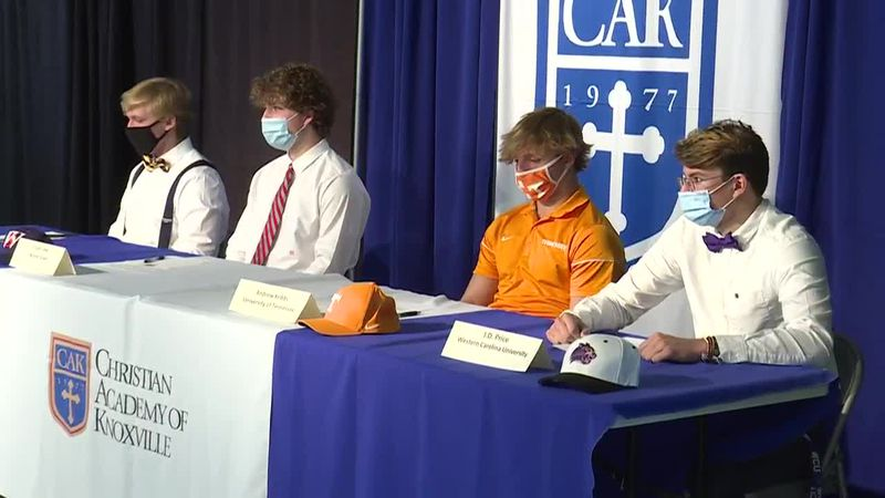 Christian Academy of Knoxville standouts sign with the college of their choice