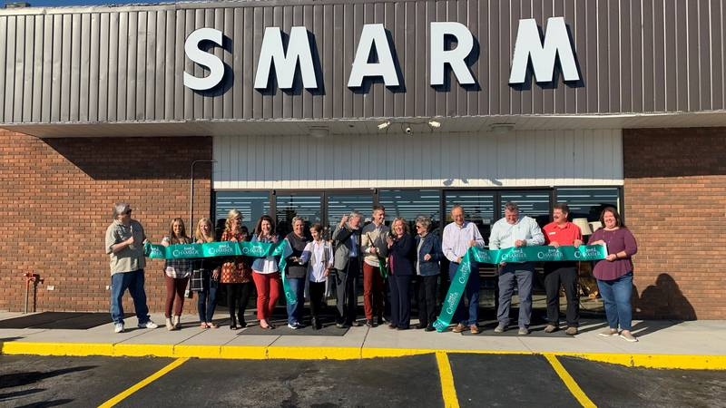 Chamber of Commerce members and SMARM Board of Directors cuts the ribbon on a  new location in...