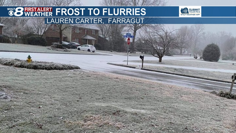 Freezing fog, frost, even some flurries Wednesday morning.