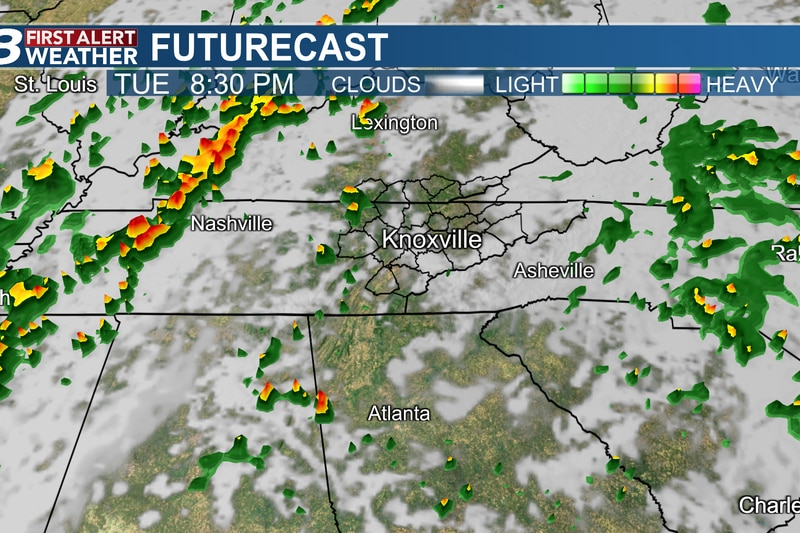 Tracking scattered storms today, ahead of a WVLT First Alert and a cold front.