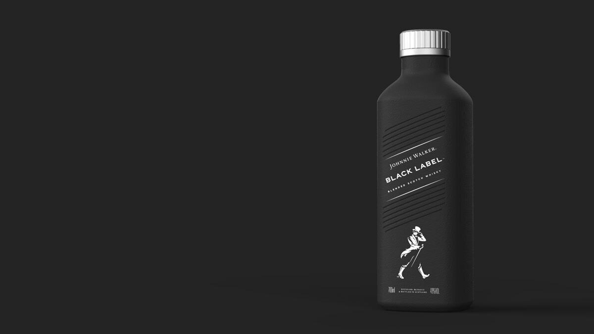 Diageo announces a new sustainable, paper-based bottle.