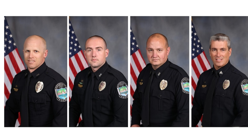 Officers involved in shooting: (Left) James Hunley, Chris Hutton, Carl Kennedy, Shane Watson