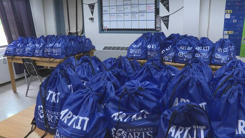 More than 100 art kits gifted to students for free at Norwood Middle School