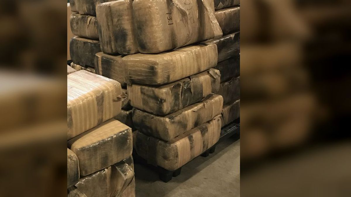 The Pima County Sheriff's Department seized 1,200 pounds of marijuana during a traffic stop on...
