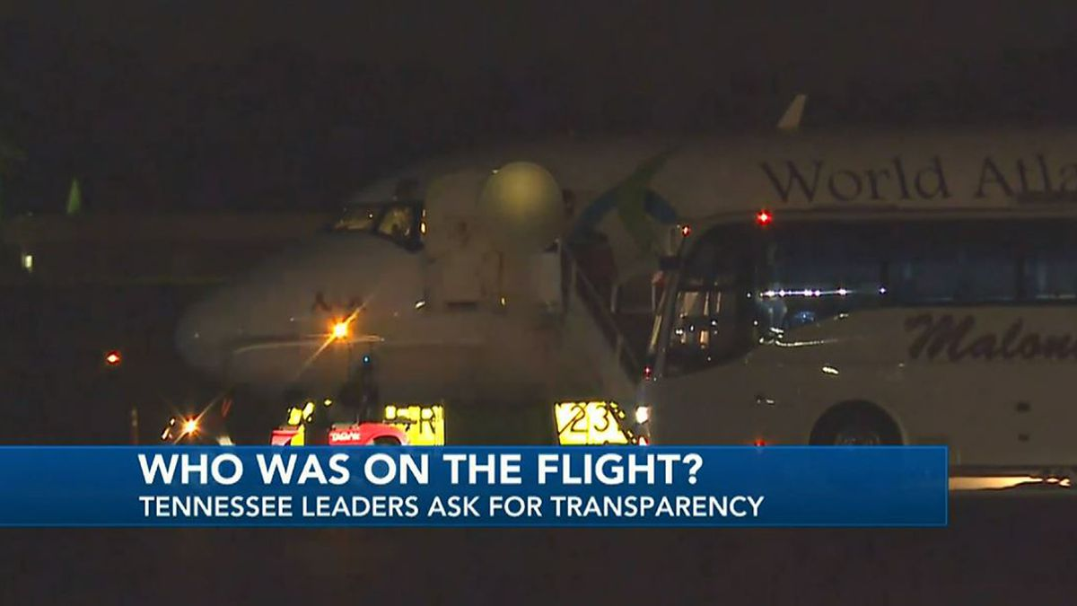 A flight carrying unidentified children arrived at a Knoxville airport Thursday night. Flight...